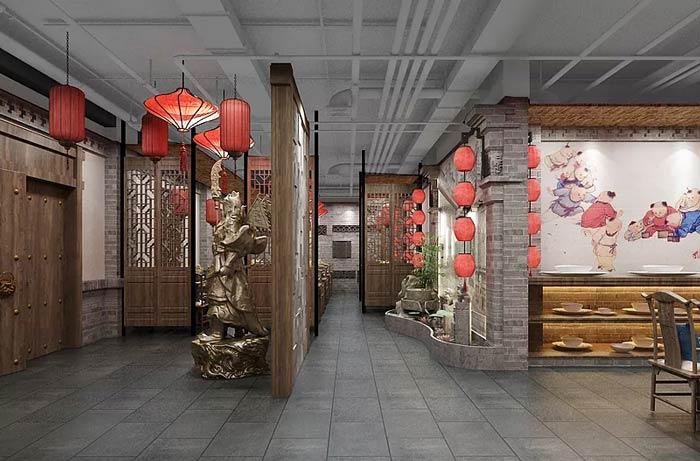 中餐厅过道设计效果图
