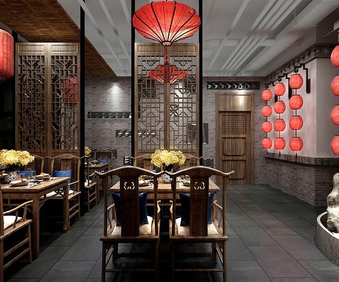 中餐厅餐区设计效果图