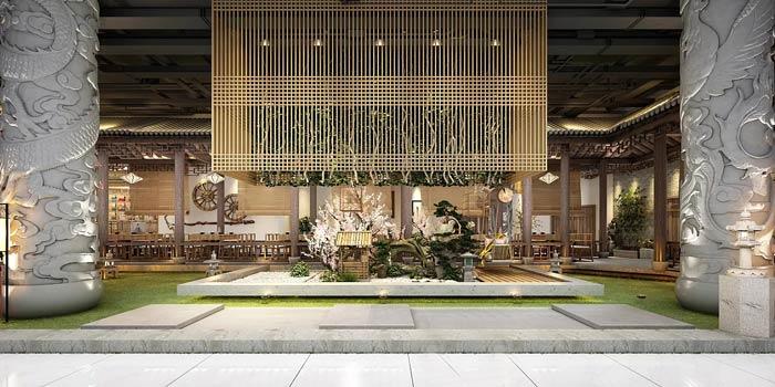 特色私房菜馆庭院装修设计效果图