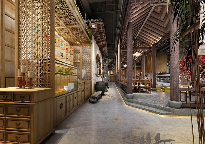 特色私房菜馆过道装修设计效果图