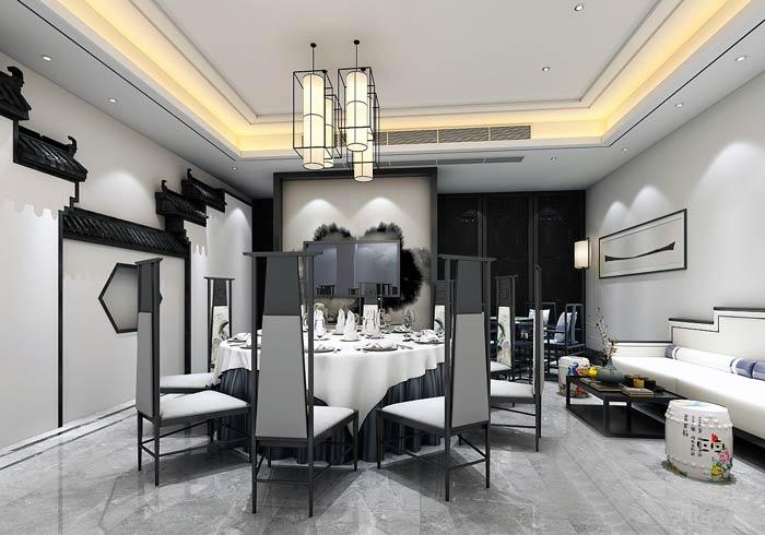 特色私房菜馆包厢装修设计效果图