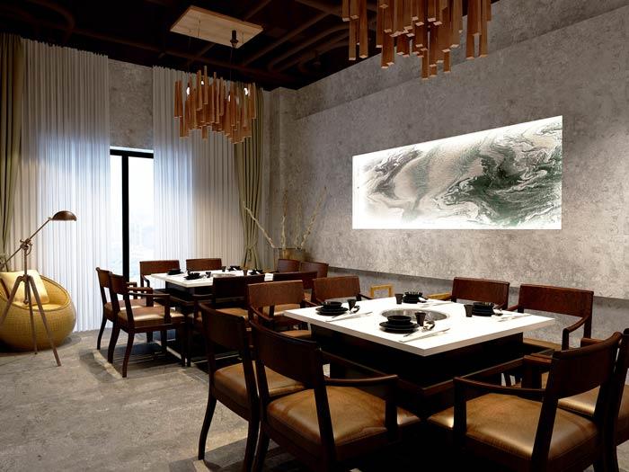 景区私家菜馆包厢装修设计效果图
