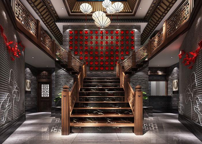 中式川菜馆装修设计效果图