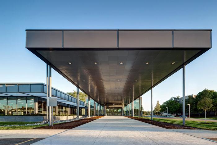 汽车工厂走廊装修设计效果图