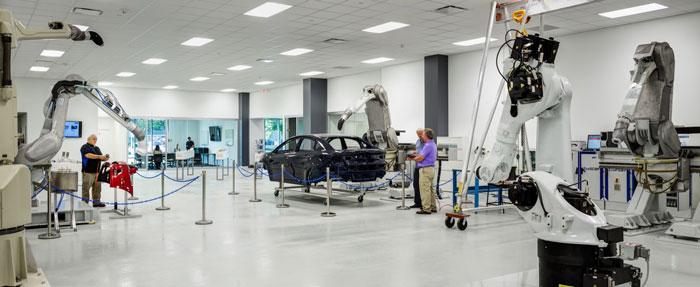 汽车工厂车间装修设计效果图