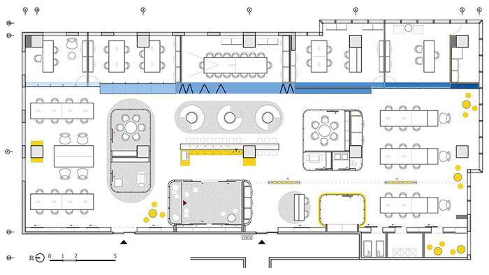 企业总部办公室平面图