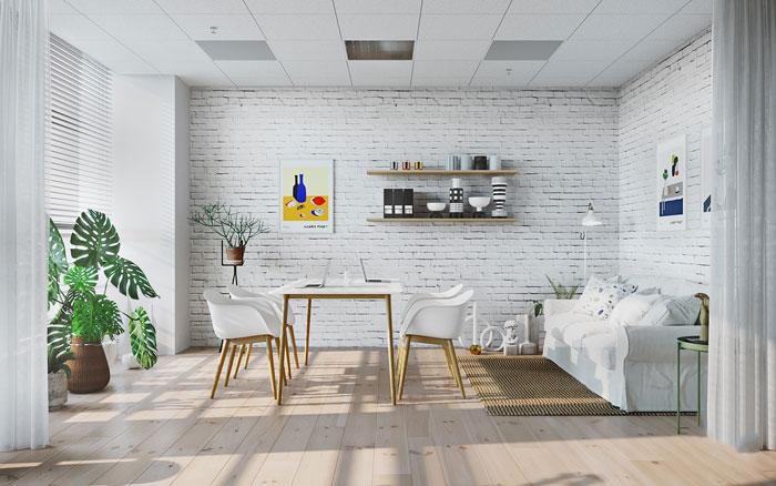 北欧风格办公室会议区装修设计案例效果图