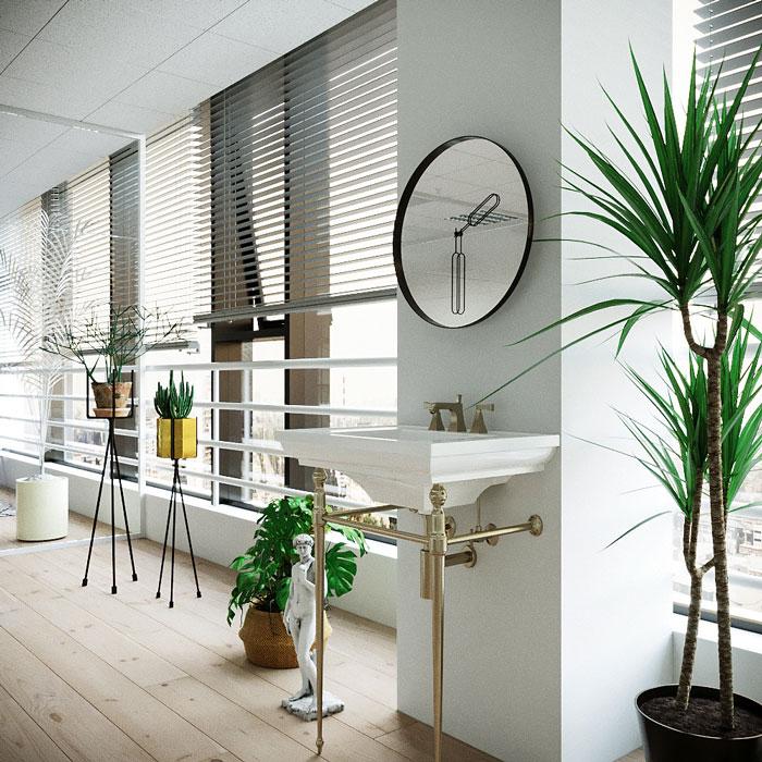装修设计案例效果图讲解到此结束,设计师在办公室设计中,以简约做为
