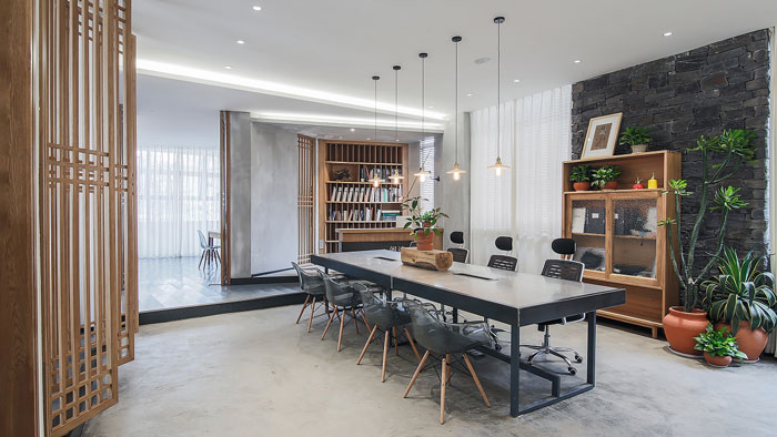 新中式风格办公室装修效果图
