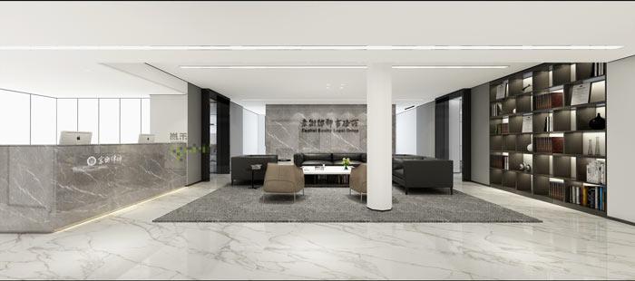 律师事务所办公室大厅装修效果图