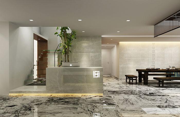loft风格办公室前台装修设计效果图