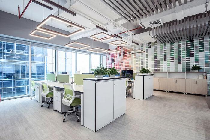 服装贸易公司办公室办公区装修设计效果图