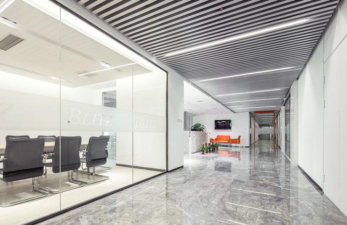 服装贸易公司办公室前台装修设计效果图