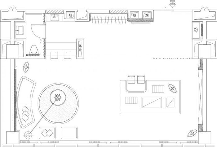 80平方办公室装修设计效果图_岚禾设计