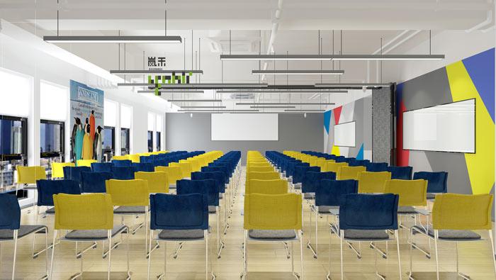 网络科技公司办公室20楼培训室装修设计效果图