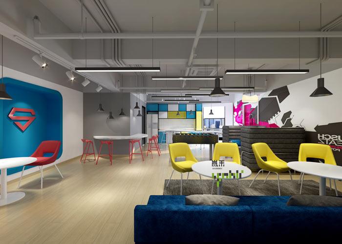 网络科技公司办公室20楼茶水间装修设计效果图