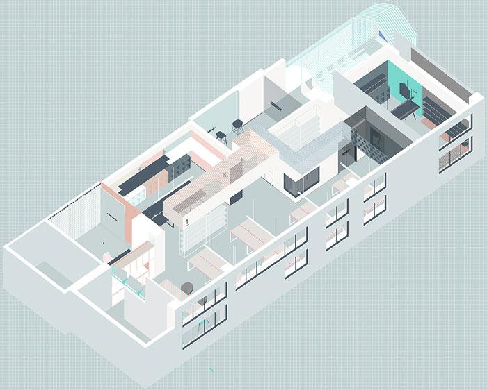 会议室布置_长方形办公室平面布置图_岚禾设计
