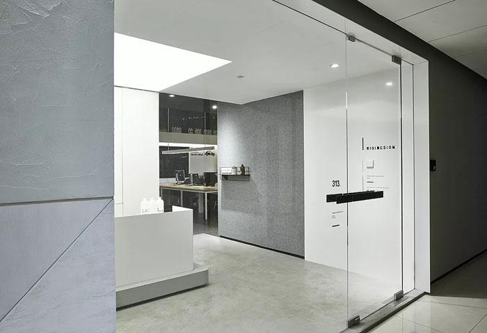 长方形办公室进门区装修效果图