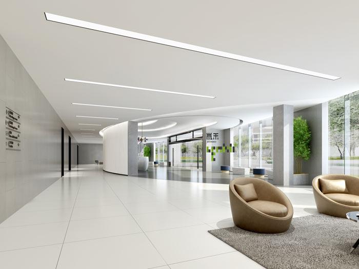 艾森医药办公室大厅装修设计效果图