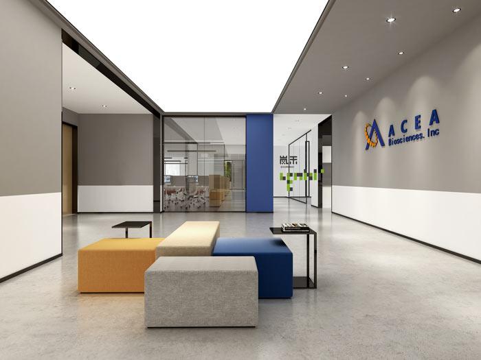 艾森医药办公室3F门厅装修设计效果图