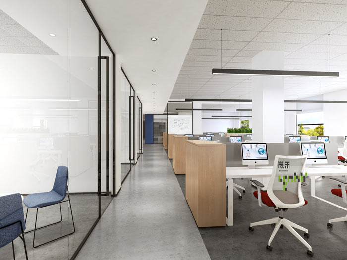 艾森医药办公室开发办公区装修设计效果图