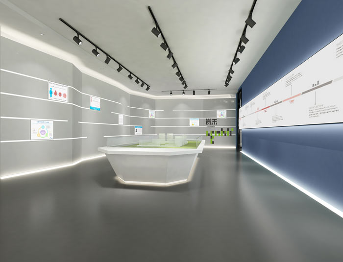 艾森医药办公室展厅装修设计效果图