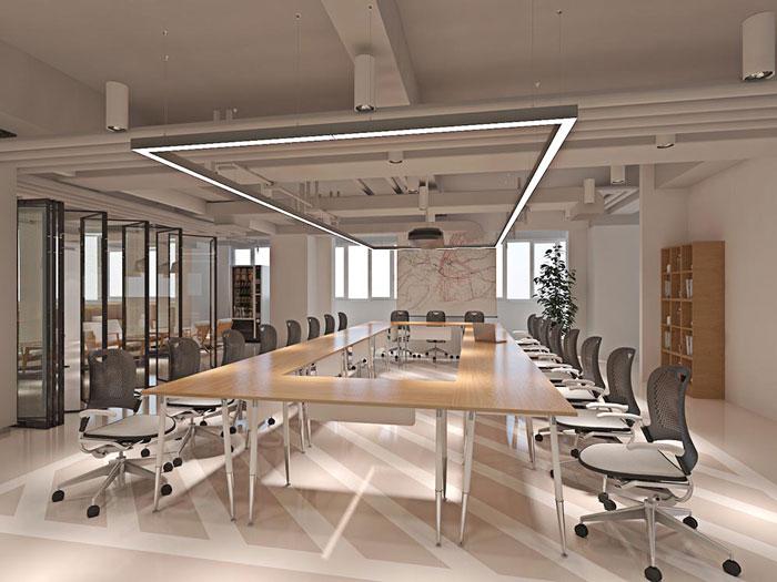 网络科技公司办公室会议室装修设计效果图