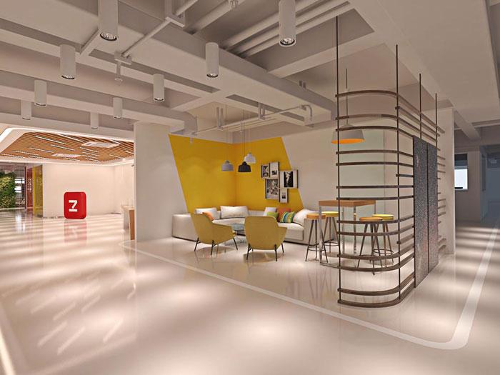 网络科技公司办公室洽谈区装修设计效果图图片