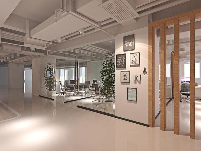 网络科技公司办公室装修设计效果图_岚禾设计
