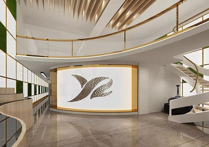 时尚办公室形象墙装修设计效果图