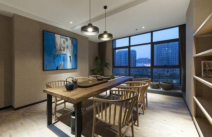 600平方办公室茶室装修设计效果图