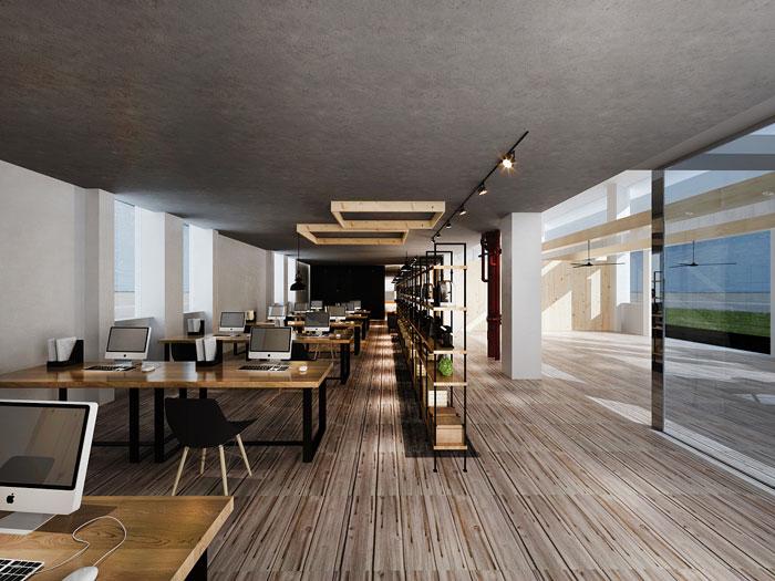 loft风格办公室装修设计效果图图片