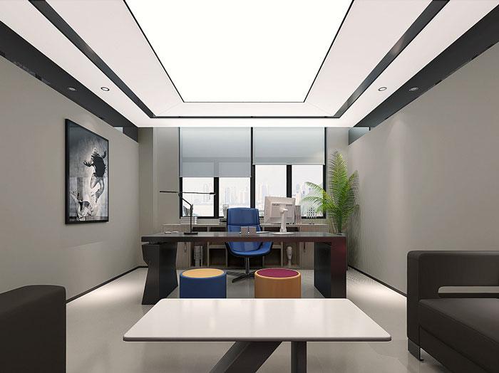 文化传媒公司办公室装修设计效果图