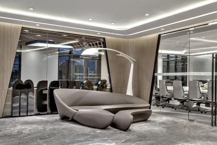 金融科技公司办公室装修设计效果图图片