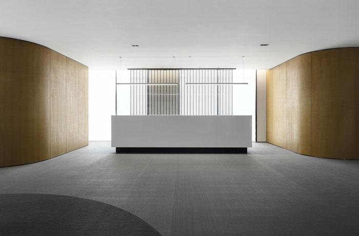 众创空间办公室前台装修设计效果图