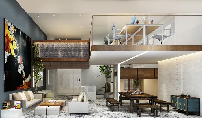 loft办公室装修设计效果图图片