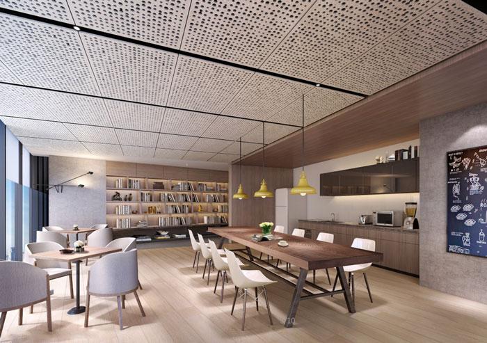 房地产公司办公室茶水间装修设计效果图
