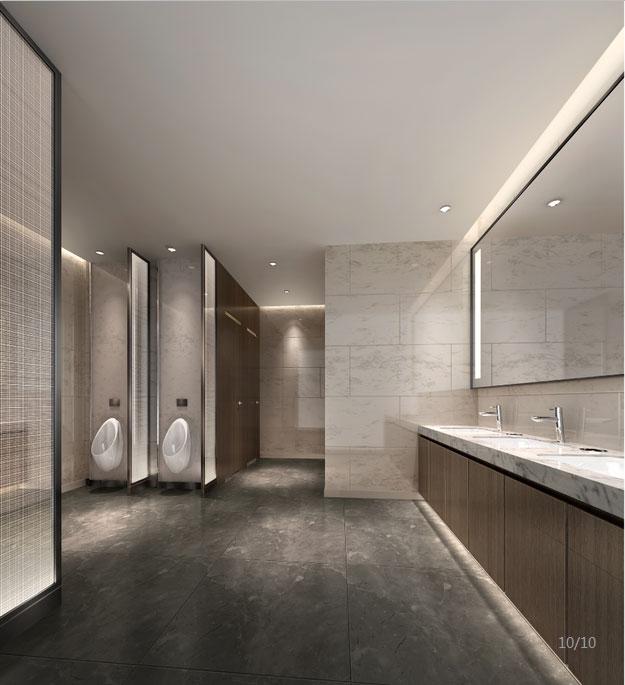 房地产公司办公室卫生间装修设计效果图