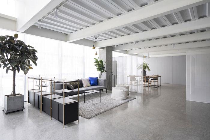 家具公司办公室洽谈区装修设计效果图