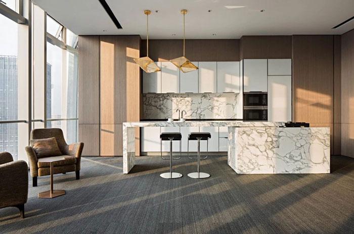投资公司办公室茶水间装修设计效果图