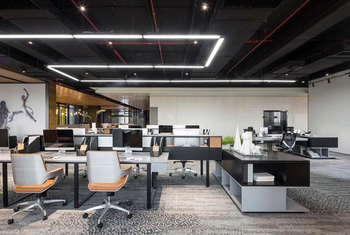 互联网企业办公室装修设计效果图