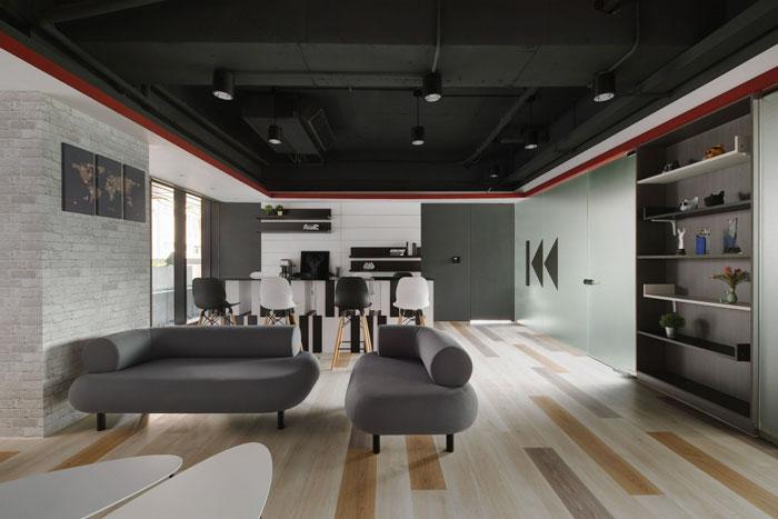 娱乐文化公司办公室茶水间装修设计效果图
