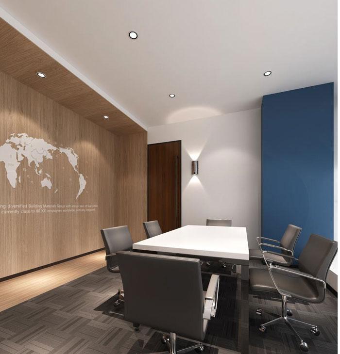 管理咨询公司办公室洽谈室装修设计效果图