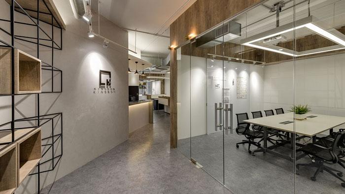 科技公司办公室进门区装修设计效果图