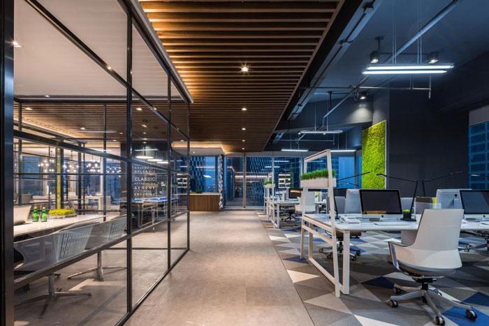 杭州800平方办公室装修设计效果图