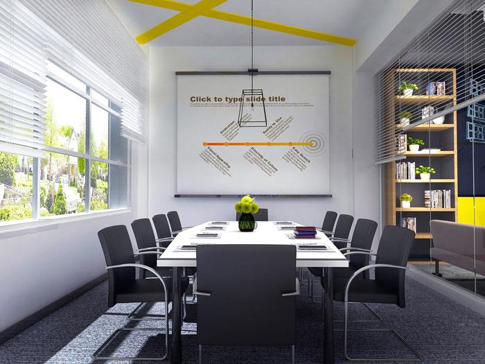 轻工业风格办公室装修设计效果图