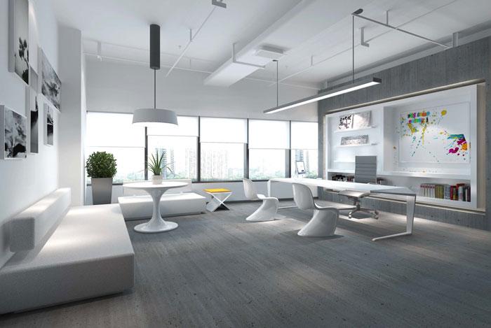 网络科技公司办公室装修设计效果图