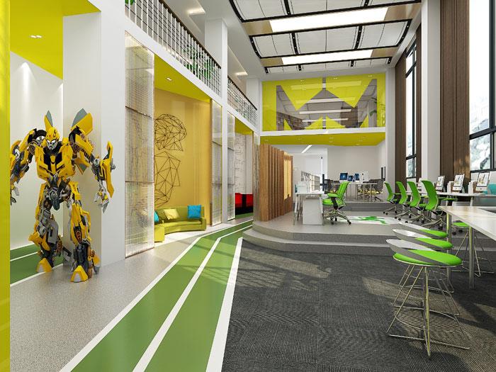 时尚创意办公室装修设计效果图