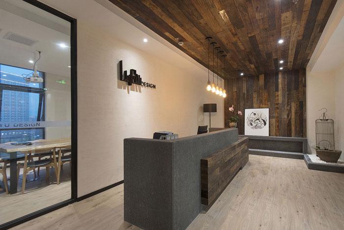 新中式办公室装修设计效果图