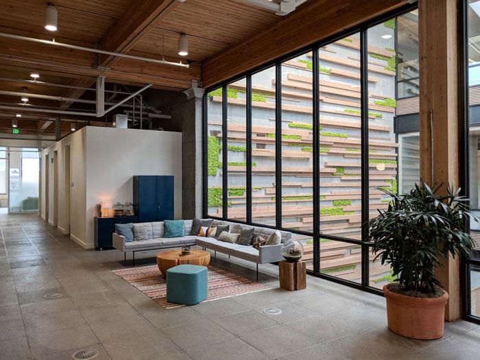 簡約時尚辦公室接待區裝修設計效果圖